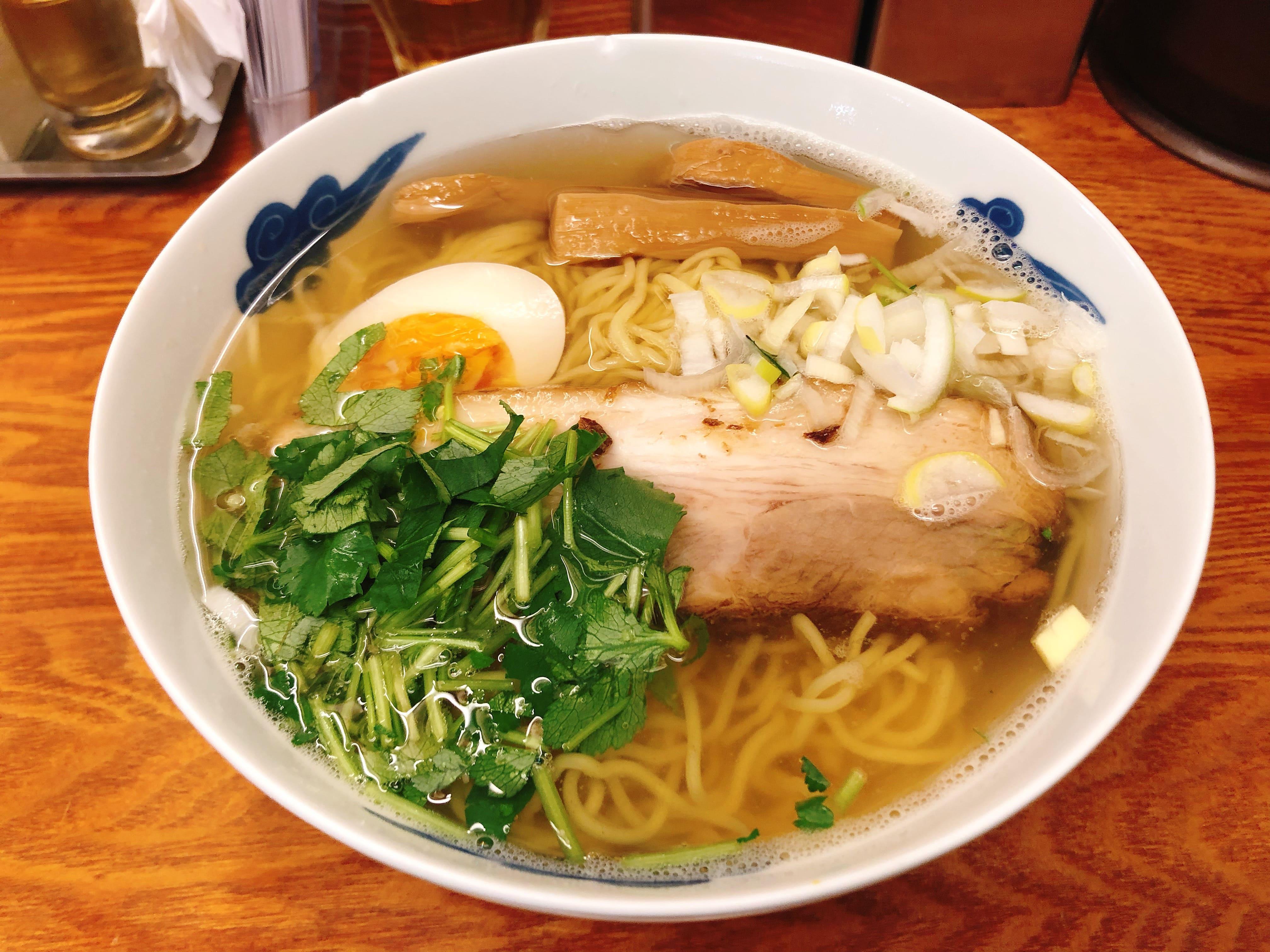 美しく透き通る透明なスープが胃にやさしい超あっさりラーメン『和風柳麺(らーめん)』@麺屋ひょっとこ【有楽町】